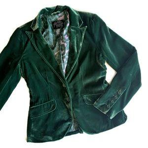 Lucky Brand Green Velvet Jacket - Small Holidays